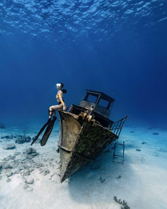 подводное плавание с затонувшими кораблями Арубы