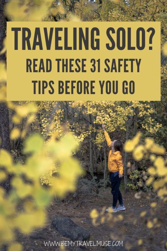 Путешествуете в одиночку? Прочтите 31 совет по безопасности перед тем, как отправиться в путь! Узнайте у экспертов по путешествиям и индивидуальных путешественниц о том, как оставаться в безопасности и быть начеку, чтобы путешествие было безопасным и увлекательным.