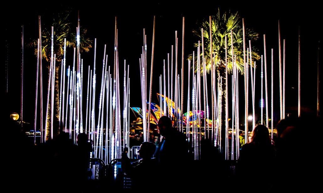Яркий Сидней освещает город