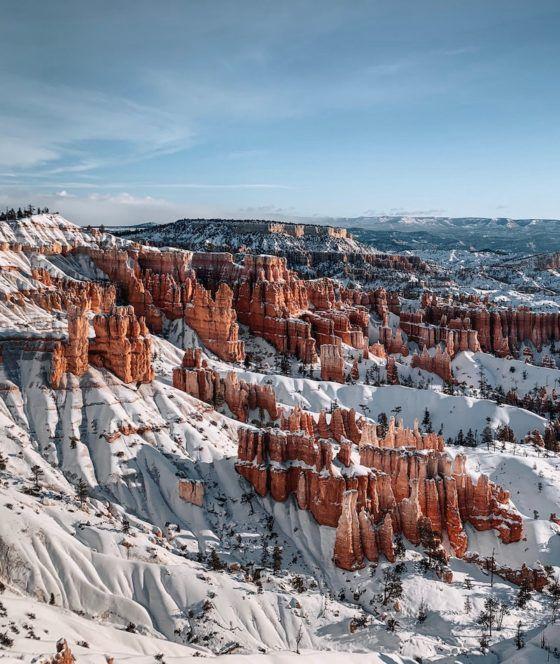 национальный парк Брайс-каньон зима