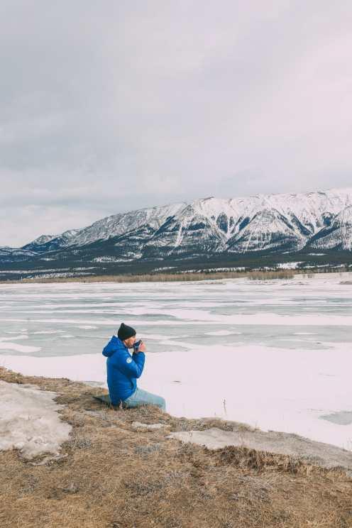 Проезжая по бульвару Эпических ледяных полей в Канаде и находя замороженные пузыри озера Авраам (19)