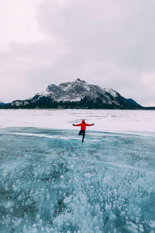Проезжая эпический бульвар ледяных полей Канады и находя замороженные пузыри озера Авраам (28)