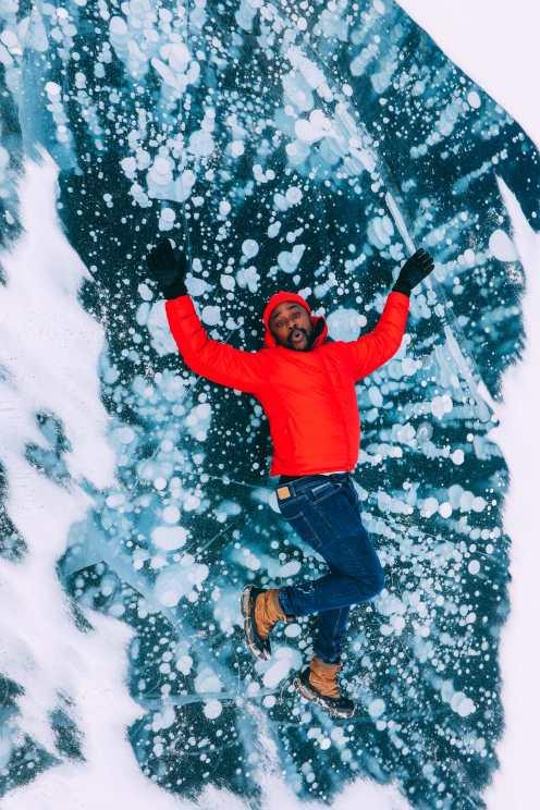 Проезжая по эпическому бульвару ледяных полей Канады и находя замороженные пузыри озера Авраам (34)