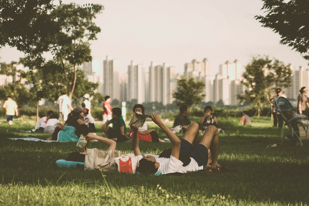 Отдых в парке Ханган