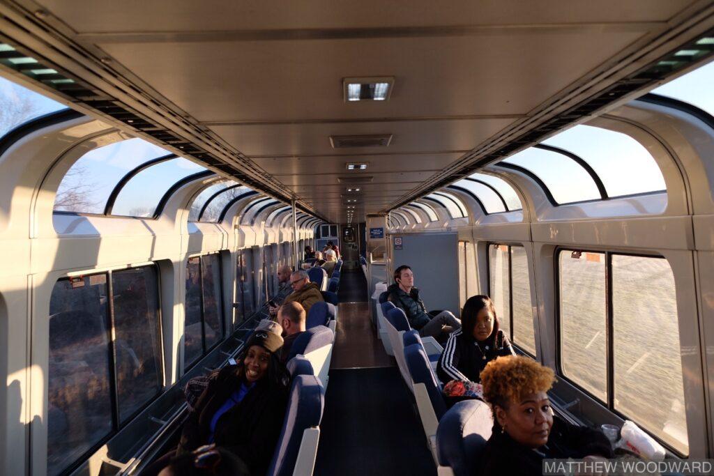 Смотровая машина, Amtrak