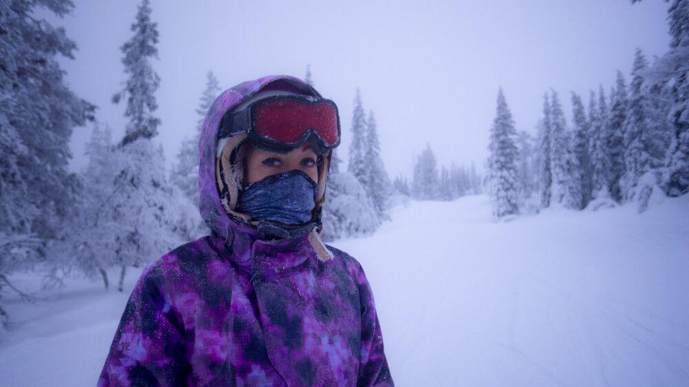 катание на лыжах в илли