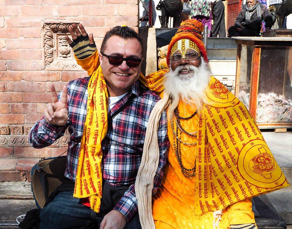 Святой человек в Непале