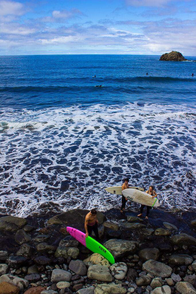 Серфинг на пляже Таганана, Тенерифе