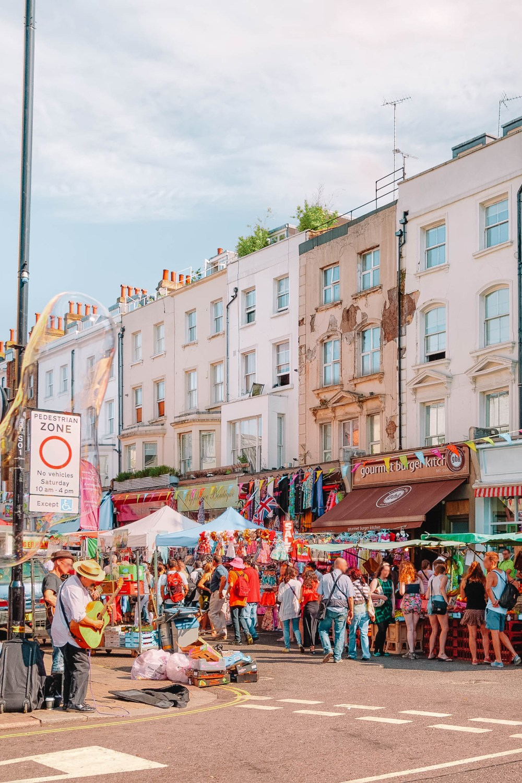 Портобелло-стрит Рынок в Западном Лондоне