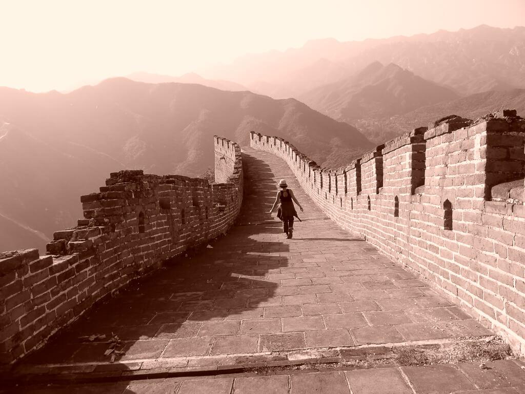 В одиночестве на Великой Китайской стене