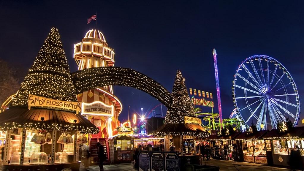 Зимняя страна чудес Гайд-парк в Лондоне