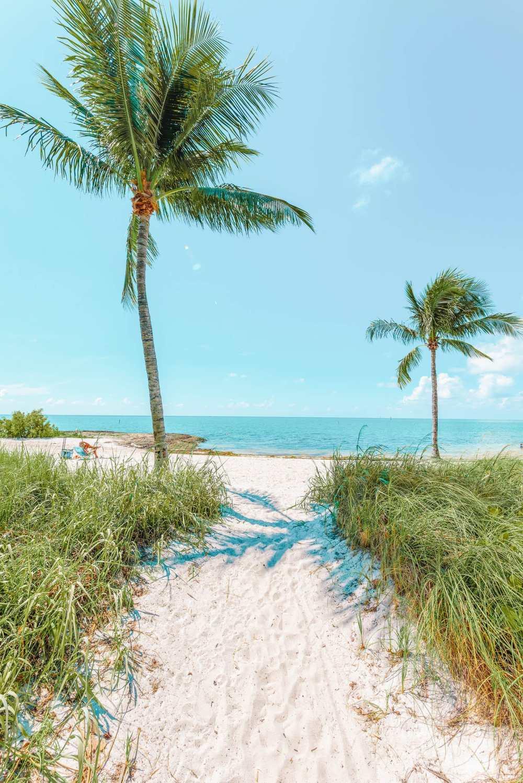 Лучший пляж Флорида-Кис