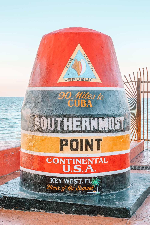 Самый южный буй во Флорида-Кис