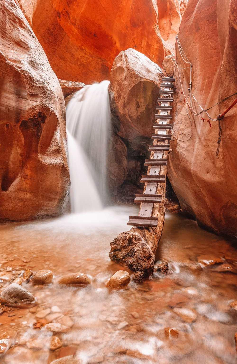 Поход по каньону Слот в Сионе Национальный парк