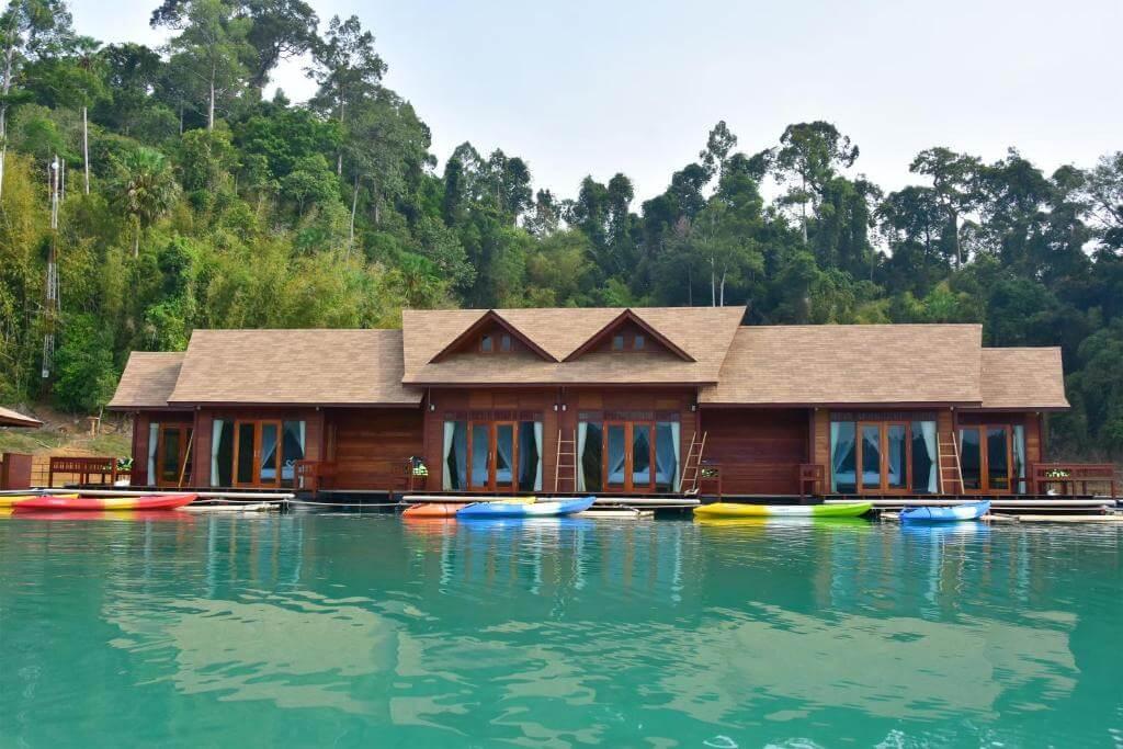 Плавучий курорт 500 Rai, плавучие бунгало Khao Sok