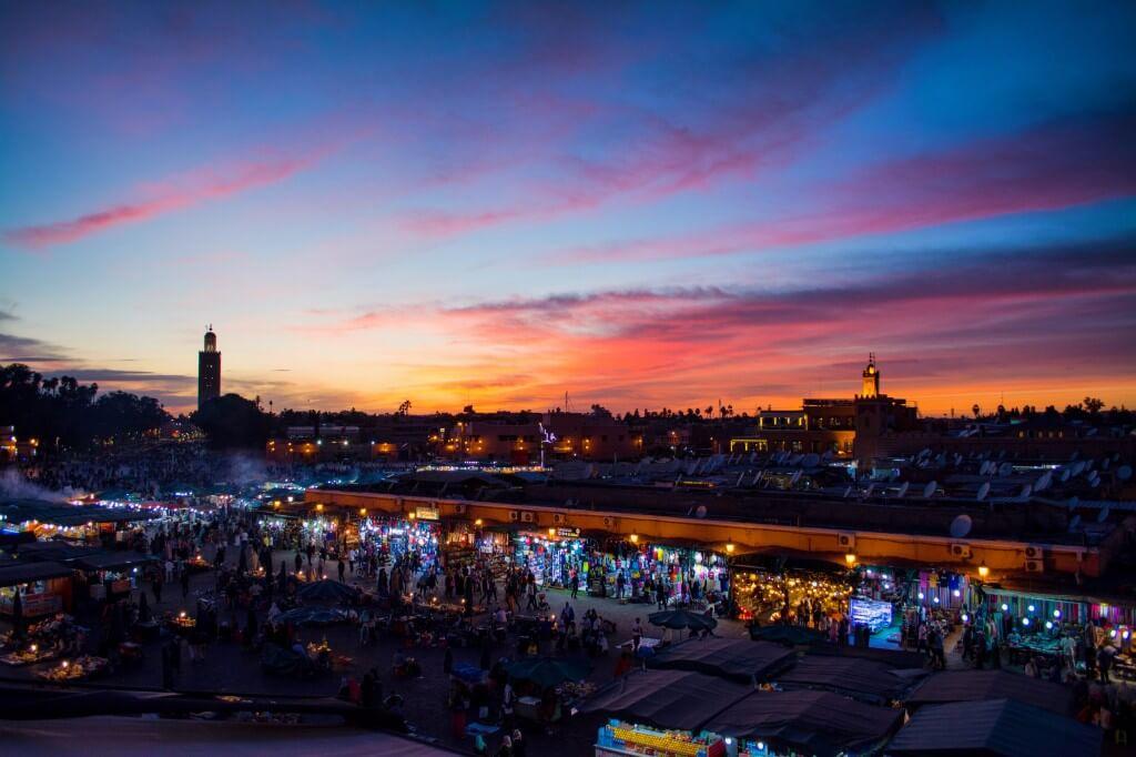 Медина в Марракеше, Марокко, Африка