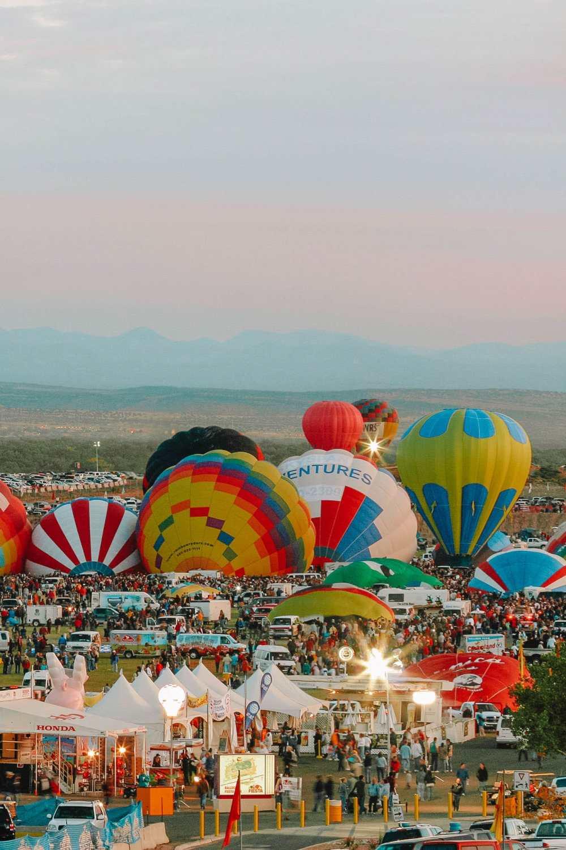 Фестиваль Ballon Fiesta в Альбукерке