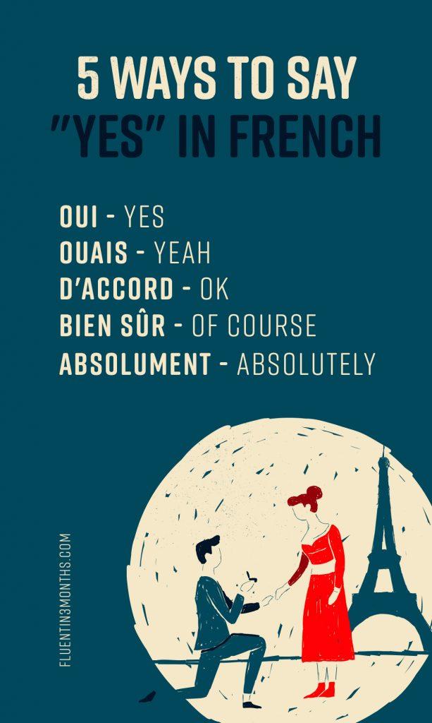 5 способов сказать «да» по-французски