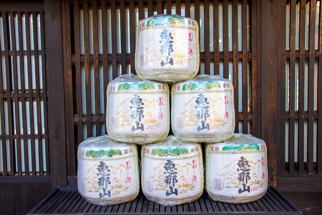 Бочки сакэ в Накацугаве