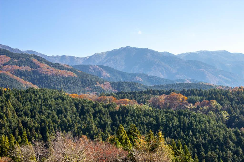 Виды с Магоме на тропу Накасэндо