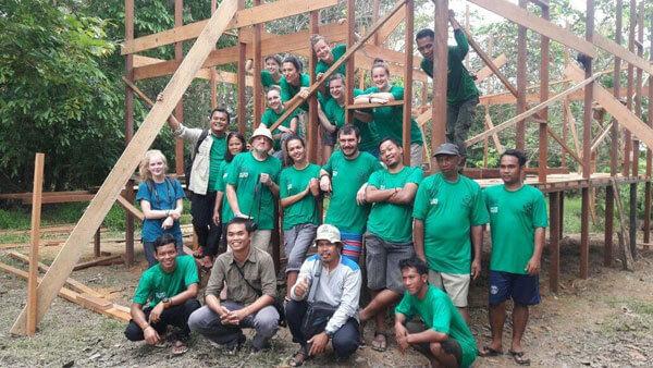 Добровольцы в Фонде орангутанов