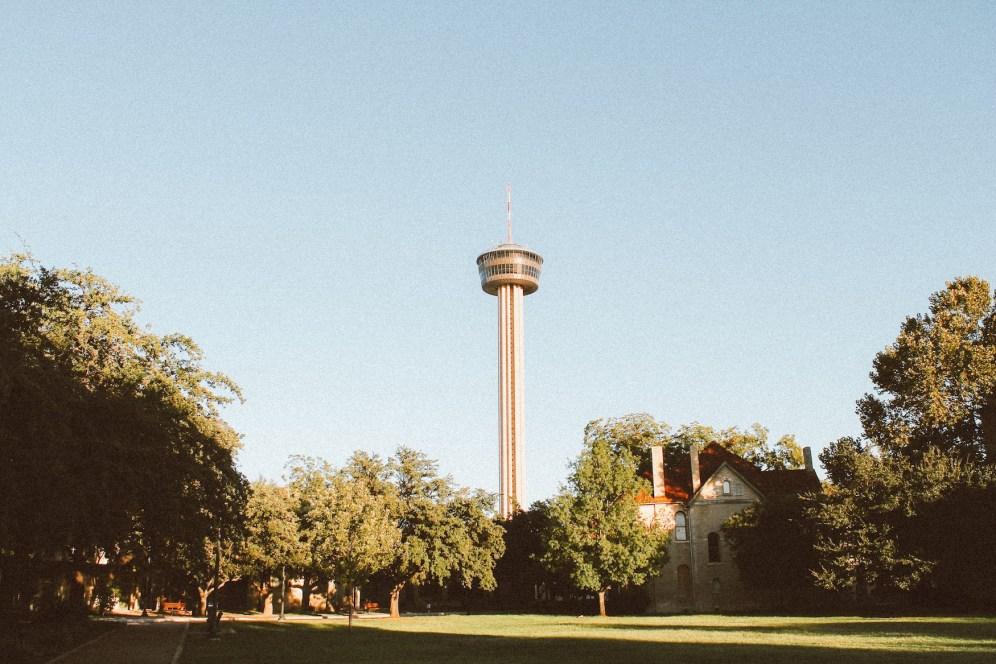 Закат в Сан-Антонио у Башни Америк (1)