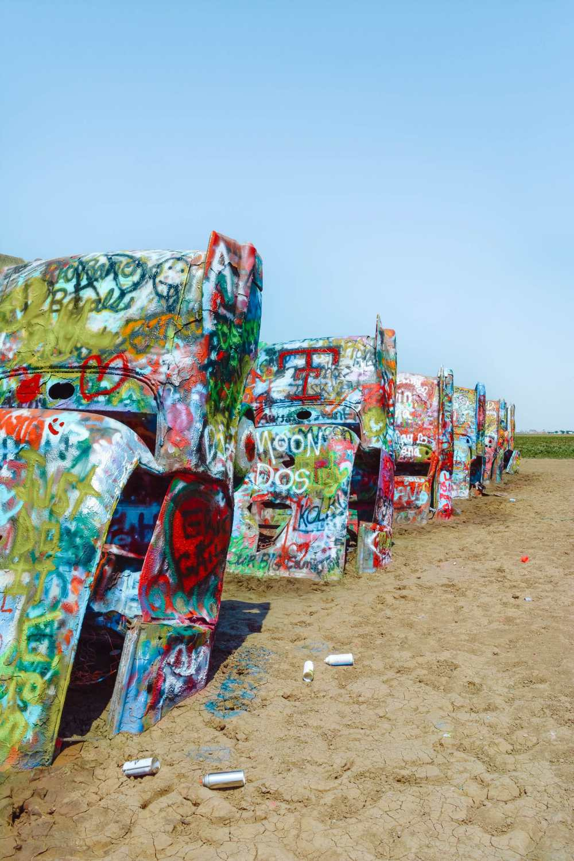 Кадил lac Art Route 66 В Техасе стоит посетить