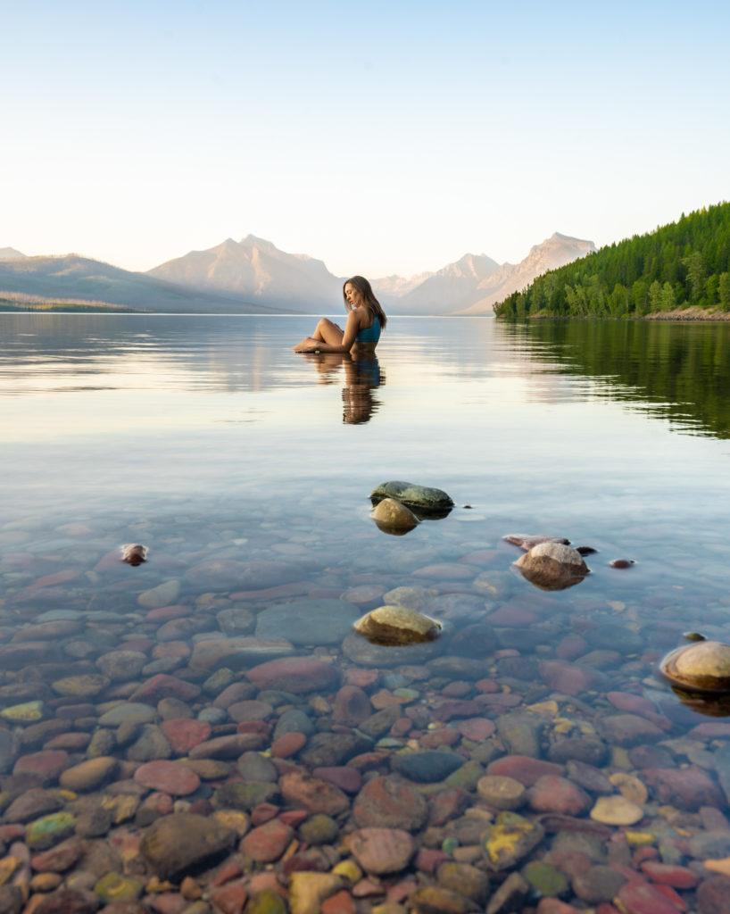 национальный парк ледника чем заняться озеро Макдональд