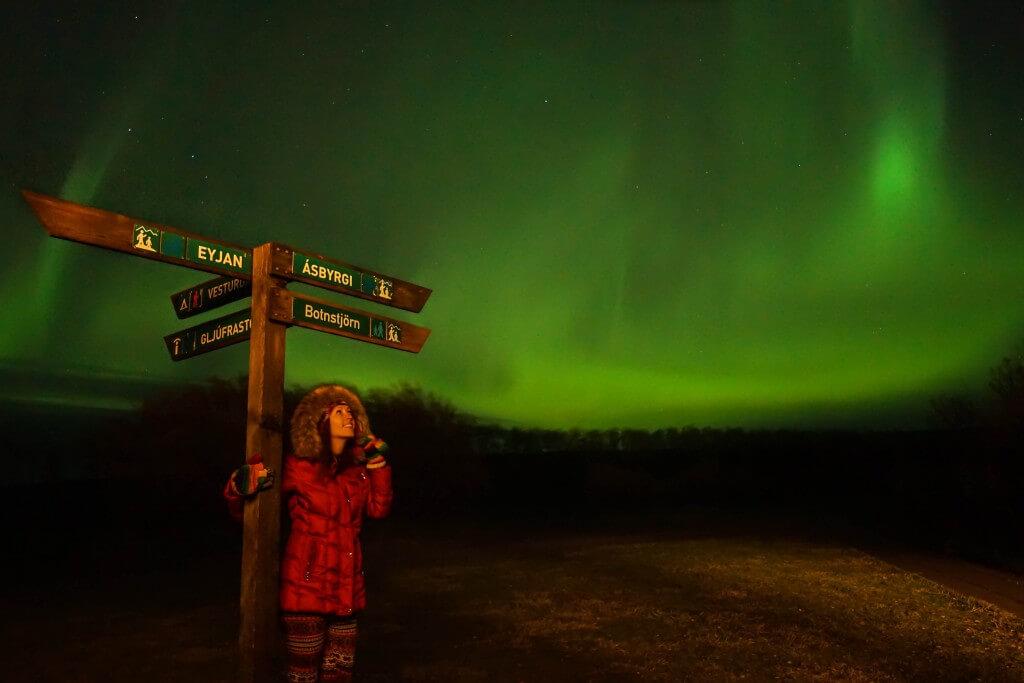 исландия северное сияние